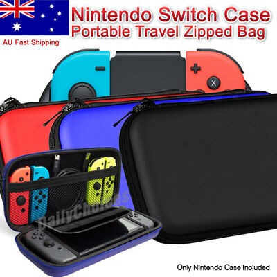 For Nintendo Switch Carrying Case Carbon Fiber Shell Portable Pouch Travel Bag