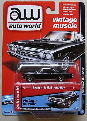 AW Auto World Vintage Muscle 1967 Chevy CHEVELLE SS black 1 of 1256