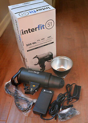 Interfit S1 Flash TTL HSS Lithium rechargeable AC/DC Monolight For Sony or Nikon