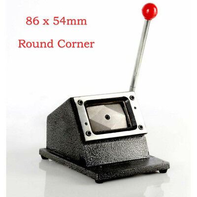 Heavy Duty 86x54 PVC Manual Business Name ID Card Die Round Corner Cutter Punch