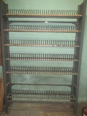 """Vintage Metal Wire Library Shelf 16mm NEUMADE Film Rack 73"""" high 48"""" wide"""