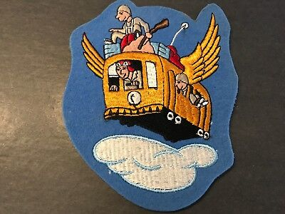 WWII/WW2 US AIR FORCE PATCH 66th Troop Carrier Squadron-ORIGINAL - BEAUTY! USAF