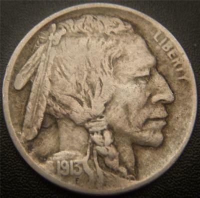 1913 Type 1 Buffalo Nickel (Mound) - Horn and Hair Details Show on Buffalo