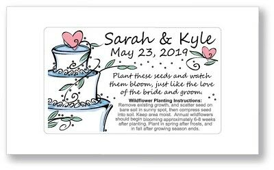 Birthday Party / Wedding Anniversary Favors Seed Packets - Cake Heart Supplies