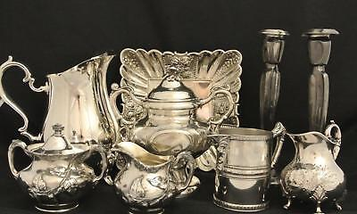 Victorian Embossed Repousse English Morning Gloriescreamer Sugar Candleholder