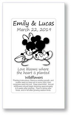 Birthday Party / Wedding Anniversary Favors Seed Packets - Mickey Minnie Disney
