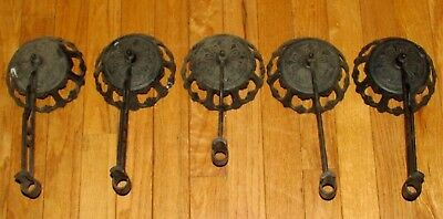 Vintage  5 Cast Iron Oil Lamp Swing Arm Holder Wall Sconce No Bracket