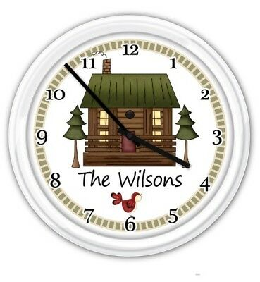 PERSONALIZED Wall Clock - Country Primitive Cottage Kitchen Bedroom Office Den