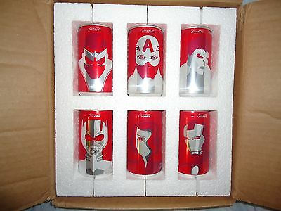"""Marvel Avengers Special """"COLLECTOR'S Edition Mini Coca Cola Cans  VERY RARE"""