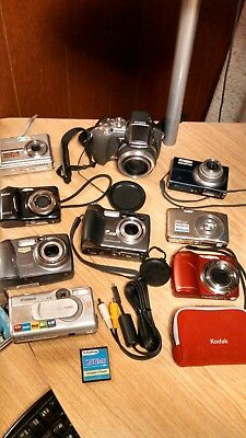 Lot Of Digital Cameras Kodak,cannon,olympus,nikon,vivitar