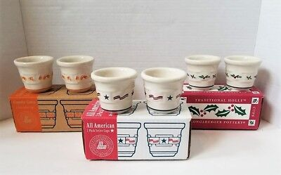 Set of 3 Longaberger Votive Cup Sets Candy Corn All American Traditional Holly