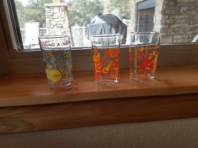 3 (three) Vintage Archie jelly glasses - Excellent condition