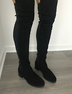 d9190e17c2484d Women s Tory Burch Caitlin Stretch Suede Over-the-knee Black Boots - Size 7M