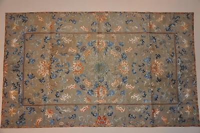 Antique Chinese Qing Dynasty Silk Embroidered Cushion Cover