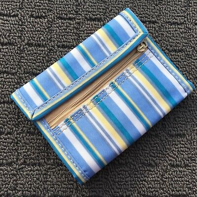 "BEACH STRIPES ""Blue & White"" Novelty Girls Fashion Wallet Bifold Money Purse"