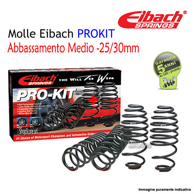 Molle Eibach PROKIT -25/30mm VW GOLF VII (5G1) 2.0 R 4motion Kw 206 Cv 280