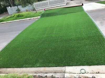Synthetic grass, turf, full width roll.