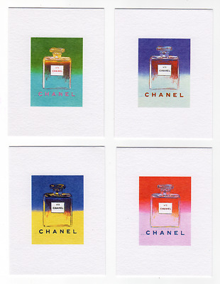 4 Cartes CHANEL n°5 ANDY WARHOL