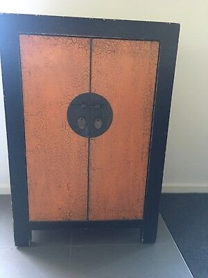 Chinese Oriental Asian Style Side Cabinet Hall Table