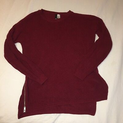 H&M Red Knit Sweater Size XS