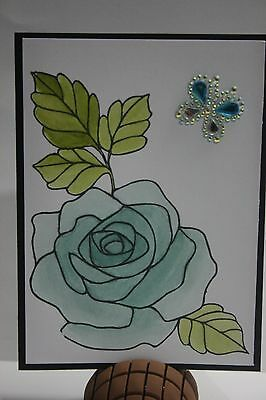 Handmade card Stampin Up Rose 2  **FREE POST**
