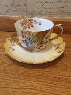 Vintage Limoges Coffee Cup And Saucer Lovely condition