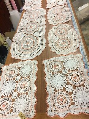 7 x Vintage Crochet Table Runners and Traycloths Various Sizes - Gorgeous LOT #2