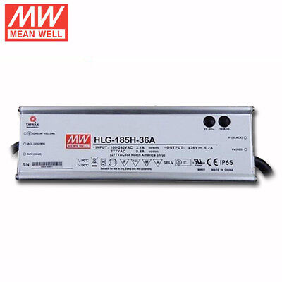 MEAN WELL HLG-185H-36A Dimmable LED Driver for 36 Volt Citizen or Vero COB 185W