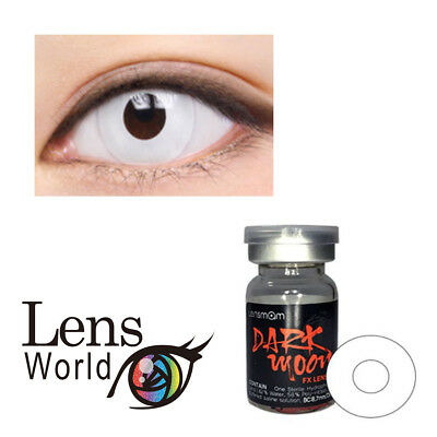 Crazy Eye Cosplay Costume Carnival Halloween Horror White Zombie Contact Lenses