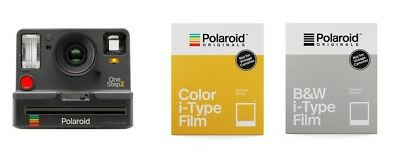 Polaroid OneStep 2 i-Type graphit Sofortbildkamera + 1 Film color & 1 Film b/w