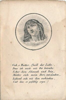 Nr 15760 Andachtsbild holy card Stich Mutter Gottes um 1850