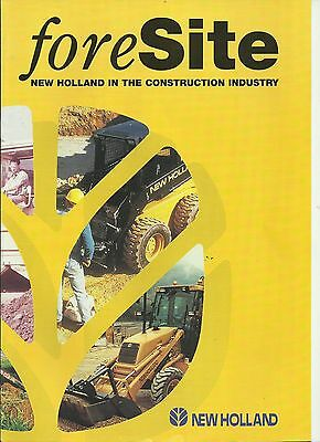 Foresite Brochure on New Holland in the Construction Industry