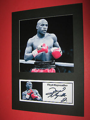 Floyd Mayweather  Boxing  A4 Photo Mount Signed Pre-Printed Ricky Hatton
