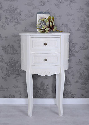 Bedside Table Country House Style Dresser White console Wardrobe