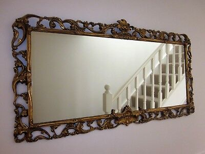 Large Decorative Gilt Feamed Mirror