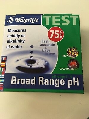 Waterlife Broad Range Ph Test Kit Tropical  , Fresh & Coldwater Fish