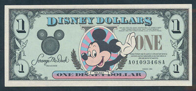 "USA: DISNEYLAND 1994 One ""MICKEY MOUSE"" Disney $$$$$ - NO LONGER ISSUED!"