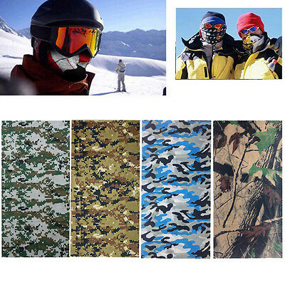 Camo Tube Scarf Headband Face Mask Warmer Bandana Multi-Function Headwear Dylj