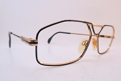 Vintage 80s Cazal eyeglasses frames black size 57-14 700 series Germany