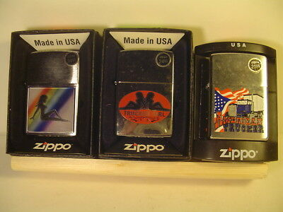 WHOLESALE  Zippo-  '' TRUCKER GIRL '' - 3 pc set - BELOW WHOLE SALE Never Fired