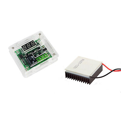 W1209 12V -50-110°C Digital Thermostat + Case + TEC1-12706 w/ Heatsink Kit US