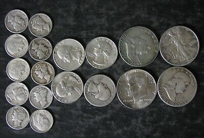 """$4.00 Face Value US 90% Silver Coins """"Junk Silver"""" - Fast Shipping"""