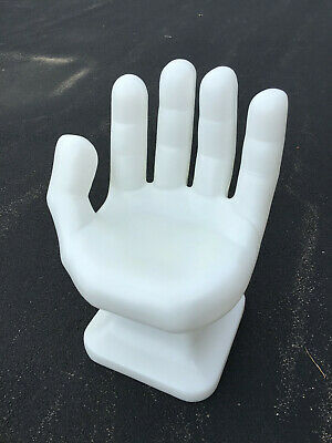 "GIANT White Left HAND SHAPED CHAIR 32"" tall adult 70's Retro EAMES iCarly NEW"