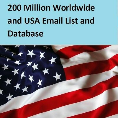 62 Million U.S.A Email List For Marketing and Business