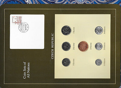 Coin Sets of All Nations Czech Republic 7 coin 1993 - 1994 UNC