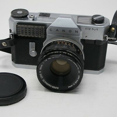 Canon Canonflex RM 35mm film camera with Canon 50mm Type R lens
