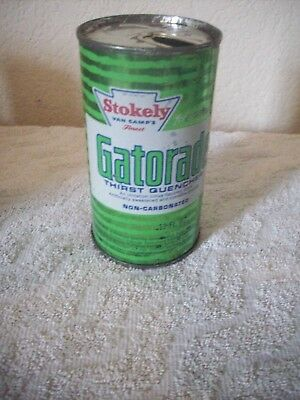 Old Stokely Van Camps Gatorade Can, opened