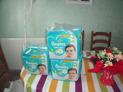 Lot De 148 Couches Pampers Taille 5 - 11 A 23 Kilos
