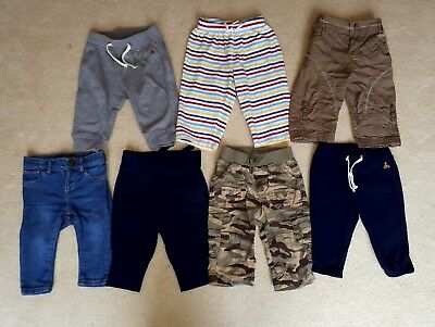 Baby boy trousers x 7 pairs 6-12mth Gap.