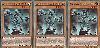 Yugioh 3 X Ancient Gear Frame - Led2-En030 Legendary Ancient Millennium Rare